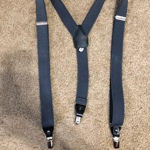 Charcoal/Dark Gray Suspenders